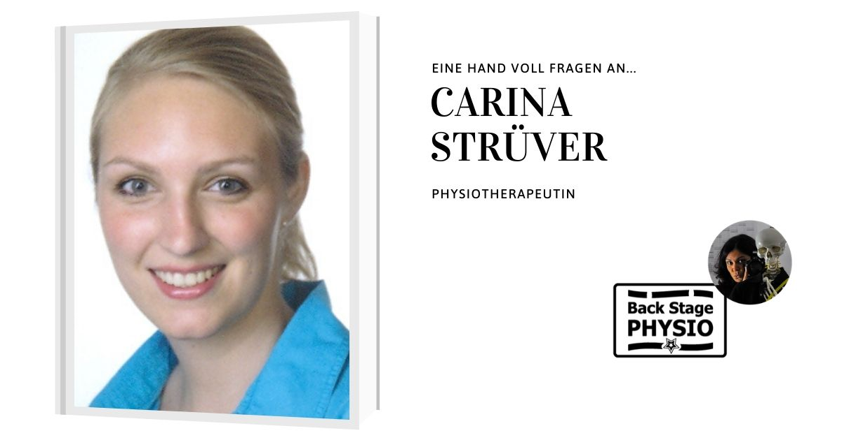Beitragsbild Backstagephysio Interview Physiotherapeutin Carina Strüver