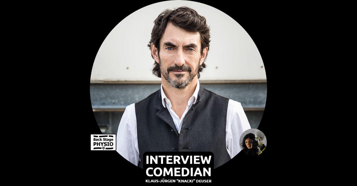 Beitragsbild Backstagephysio Interview mit Comedian Klaus-Jürgen Knacki Deuser